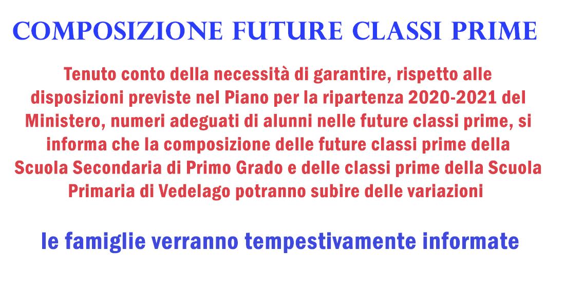 Composizione delle future classi prime