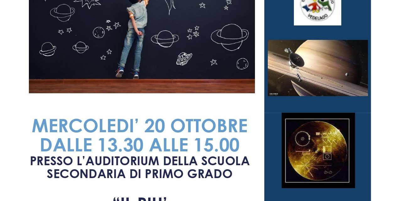 """C. n. 44. Lezioni di astronomia: """"Il più affascinante viaggio dell'umanità"""". Mercoledì 20 ottobre 2021."""